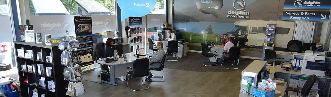 Dolphin Motorhomes Hampshire Showroom