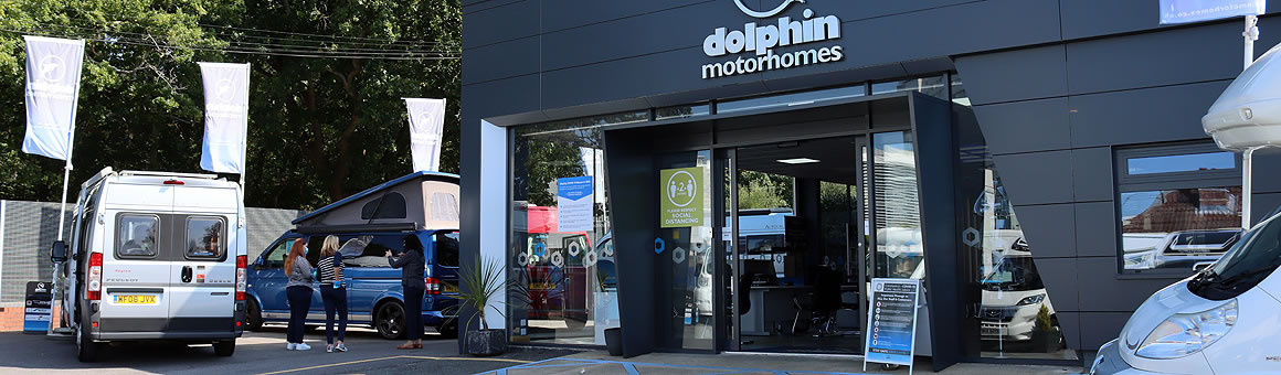 Dolphin Motorhomes Hampshire new showroom entrance