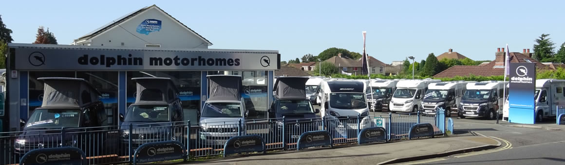 Dolphin Motorhomes Hampshire from across the road